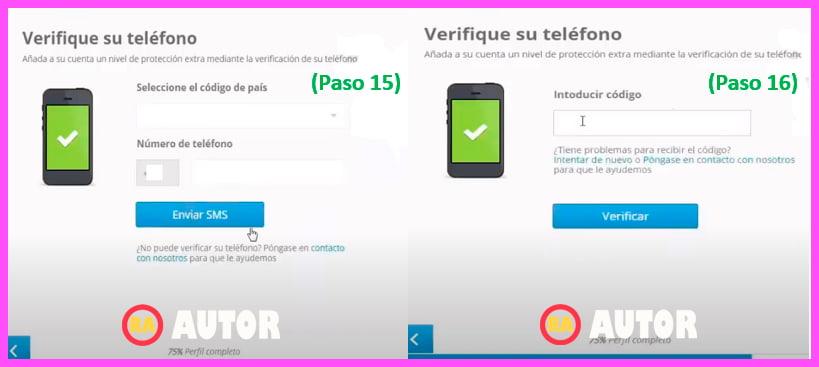 verificar numero de telefono en la plataforma de eToro