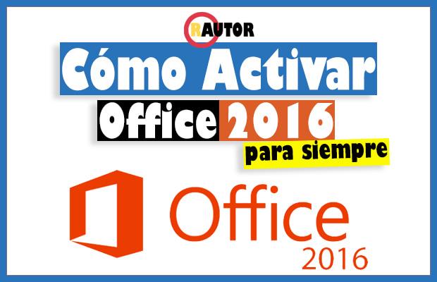 como activar office 2016