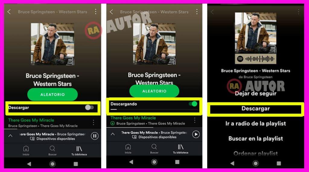 descargar playlist en spotify