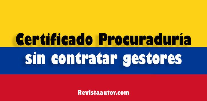 certificado procuraduria de la nacion colombia