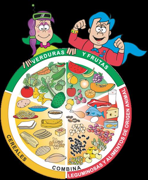 plato del bien comer para niños