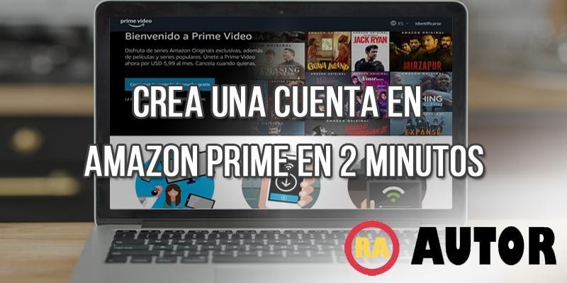 crear cuenta amazon prime video