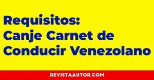 canje licencia de conducir venezolana en españa