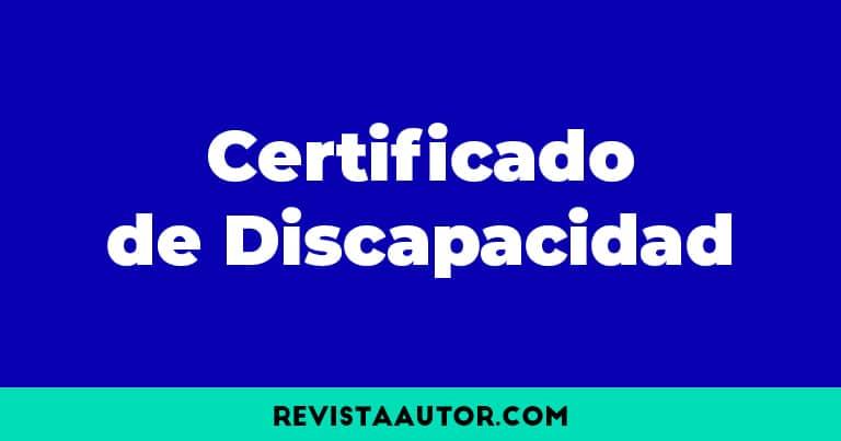 beneficios certificado de discapacidad