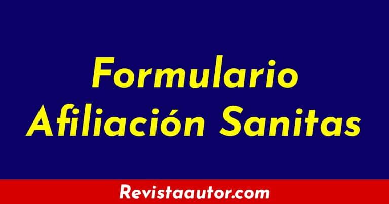formulario afiliacion sanitas 2020